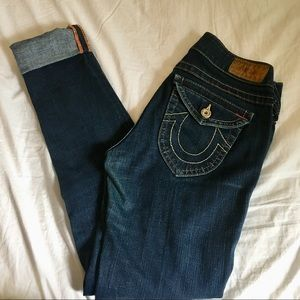 LIKE NEW True Religion skinny jeans